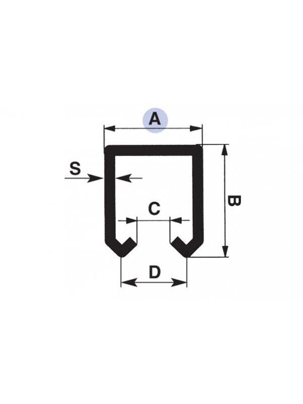 6 метрова релса за горно водене за висящи врати малък вариант