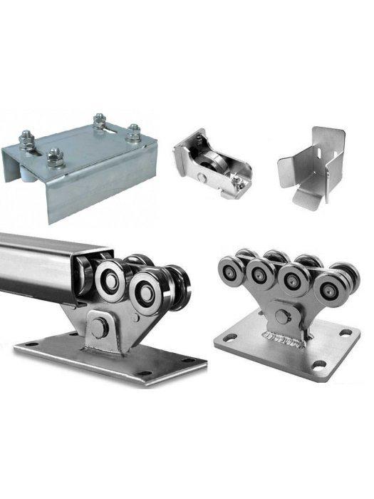 Механизъм с допълнителен държач с четири фиксатора за плъзгаща врата до 1000 kg Euromatica