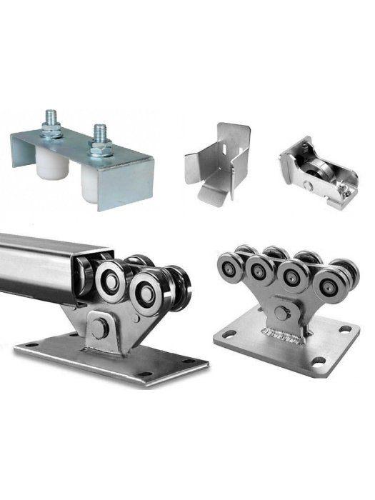 Механизъм с допълнителен държач с два фиксатора за плъзгаща врата до 500 kg Euromatica