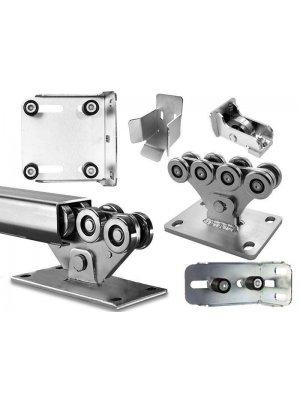 Механизъм с допълнителни горни скоби за плъзгаща врата до 500 kg Euromatica