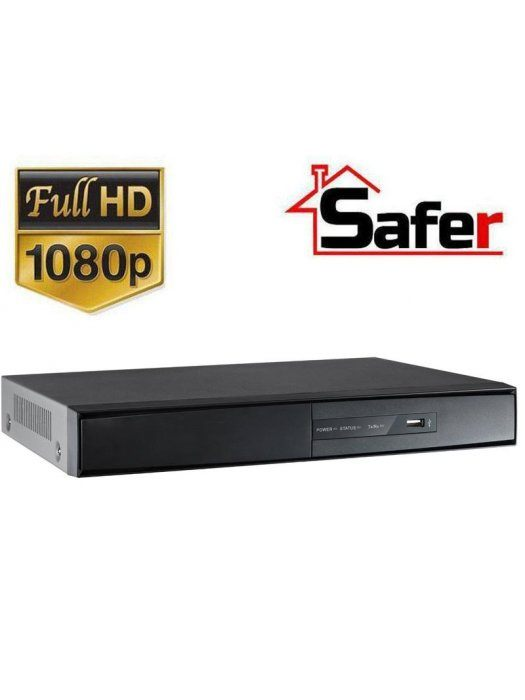 4-канален Pentabrid 1080p Lite (Turbo HD/AHD/HDCVI/IP/CVBS) DVR Safer