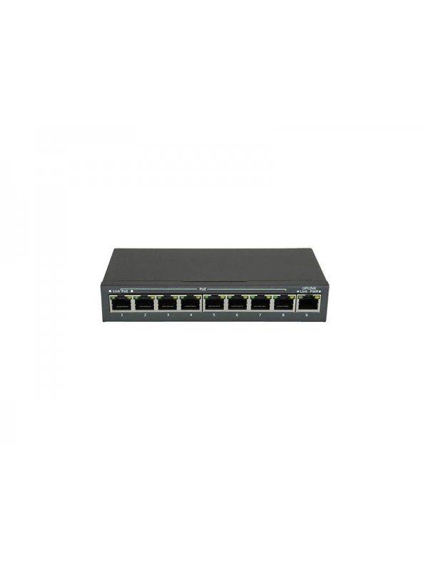 8-канален суич за захранване на PoE IP камери Safer SW0908POE-120W