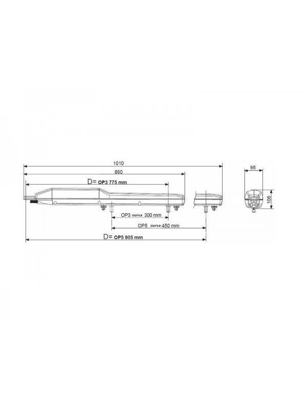 Пълен комплект за двукрилна врата - Life Optimo SKY LINE UNI DL